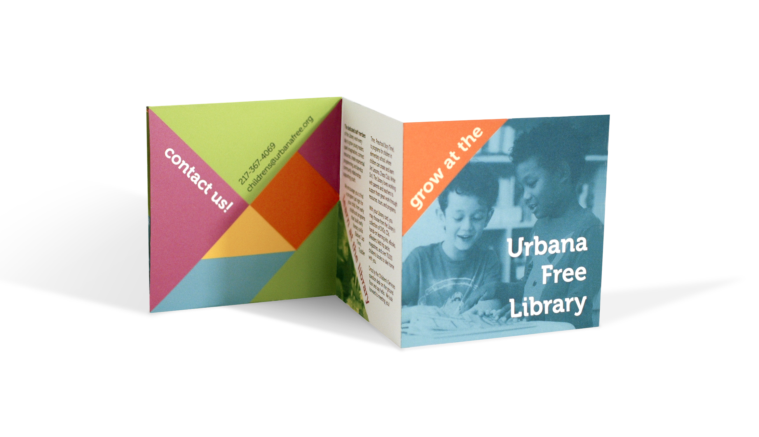 Brochure for the Urbana Free Library